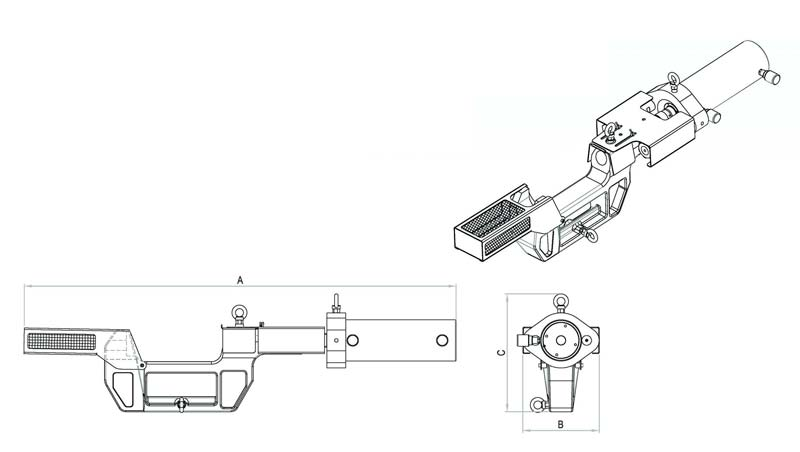 hydraulic c type track pin pushers
